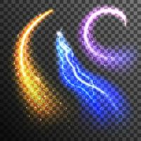 Glitterpartiklar Transparent Set
