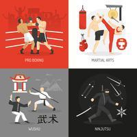 Vechtsporten Concept