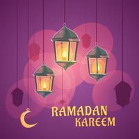 Ilustração de lanternas de Ramadã