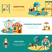 Pancarta plana para parque infantil