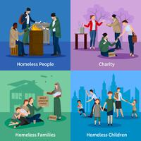 Homeless Icons Set