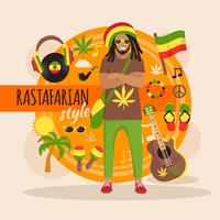 Rastafarian karaktärspaket för mannen
