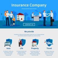Compañía de seguros Una página web