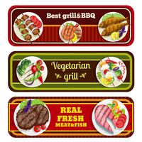 Parrillas Platos Banners vector