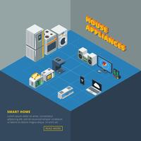 House Appliances Set Isometric