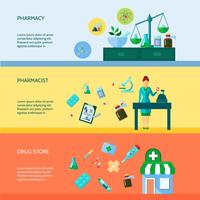 Conjunto de banners de farmacéutico