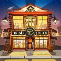 Irish Pub Cartoon Illustration