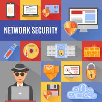 Network Security Decorative Icons