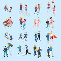Friends Isometric Icons Set