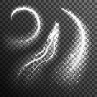 Partículas de brilho preto branco conjunto transparente