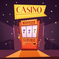 Casino Retro Cartoon Illustration vector