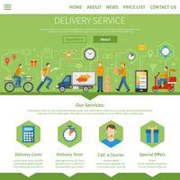 Servicio de entrega y página de mensajería.