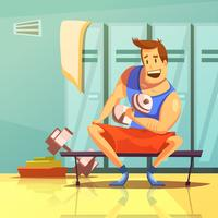 Dumbbells Cartoon Illustration