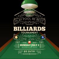 Illustration d'affiche de billard
