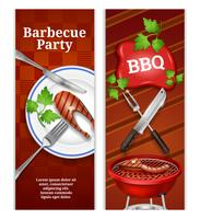 Barbecue verticale banners