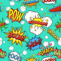 Comic speech bubblar sömlös mönster bakgrund