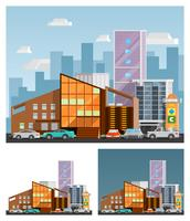 Shopping Mall Orthogonal Compositions  vector