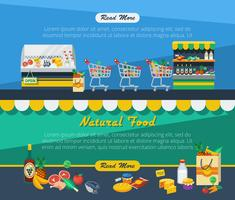 Bannières publicitaires dans les supermarchés