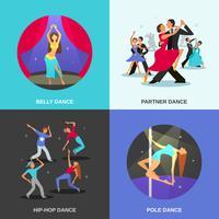 danza concetto piatto