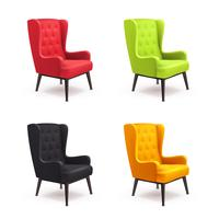 Chair Realistic Icon Set