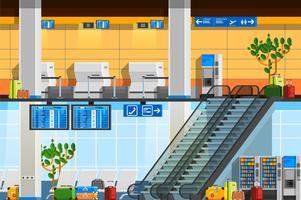 Flache Zusammensetzung des Flughafenterminals