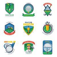 Conjunto de etiquetas de golf