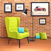Chair Realistic Interior Poster