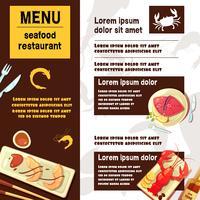 Menu de fruits de mer