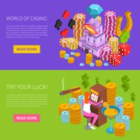 Casino Horizontal Isometric Banner