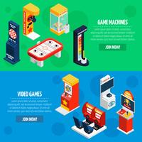 Conjunto de Banners isométrica de máquinas de jogo 2