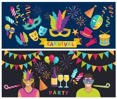Banner de elementos de carnaval