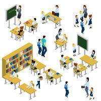 Set isometrico della scuola