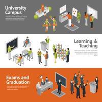 Insegne isometriche dell'università universitaria