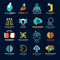 Ensemble de logos de relations sociales
