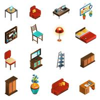 Huis interieur Icons Set