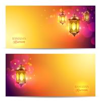Conjunto de Banner do Ramadã