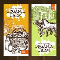 Organic Farm Vertical Banners