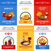 Russian Cuisine Flat Icons Composition Poster