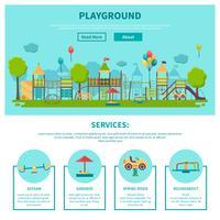 Outdoor Playground Illustration