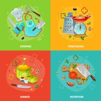 Cooking 2x2 Design Concept vector