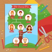 Family Tree Creative Handwork Flat Poster
