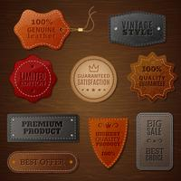 Leather Label Set