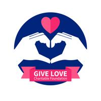 Välgörenhetsorganisationens logotypillustration