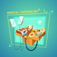Conjunto de desenhos animados médicos