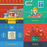 Home Repair 4 Composición de iconos planos