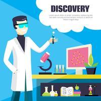 Scienziato e laboratorio Discovery Illustration