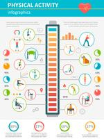Physical Activity Infographic vector
