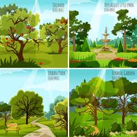 trädgårdslandskap 2x2 designkoncept