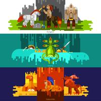 Mythical Creatures Banners Horizontal