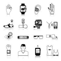 Gadgets and devices icons set